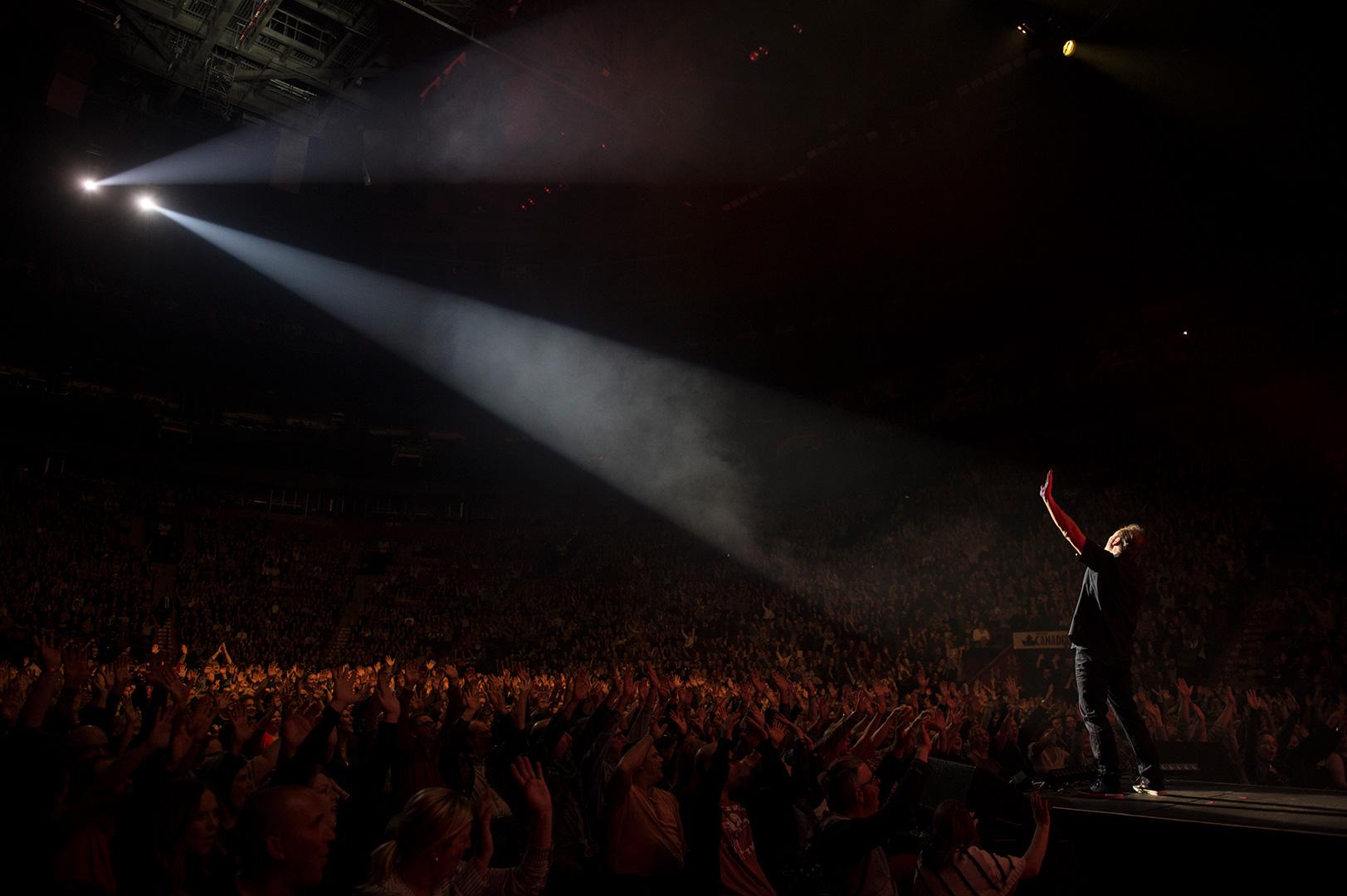 Paul Piché en spectacle durant la tournée *40 printemps*